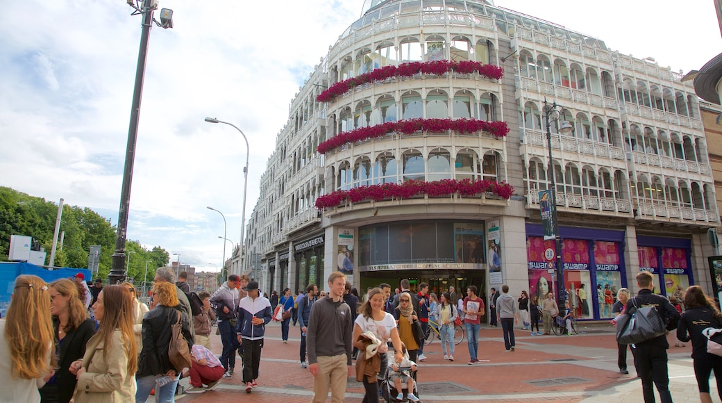 Grafton Street featuring a city, a square or plaza and street scenes