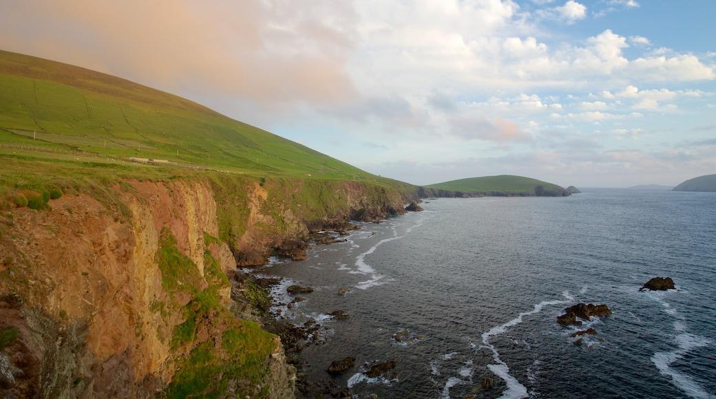 Slea Head showing tranquil scenes, general coastal views and rocky coastline