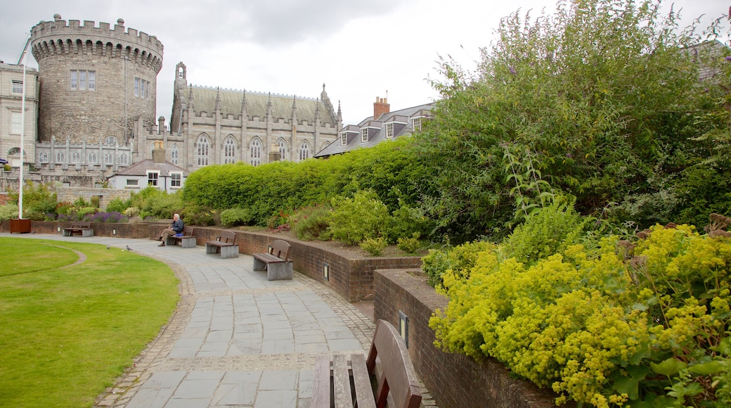 Dublin Castle featuring heritage architecture, a garden and heritage elements