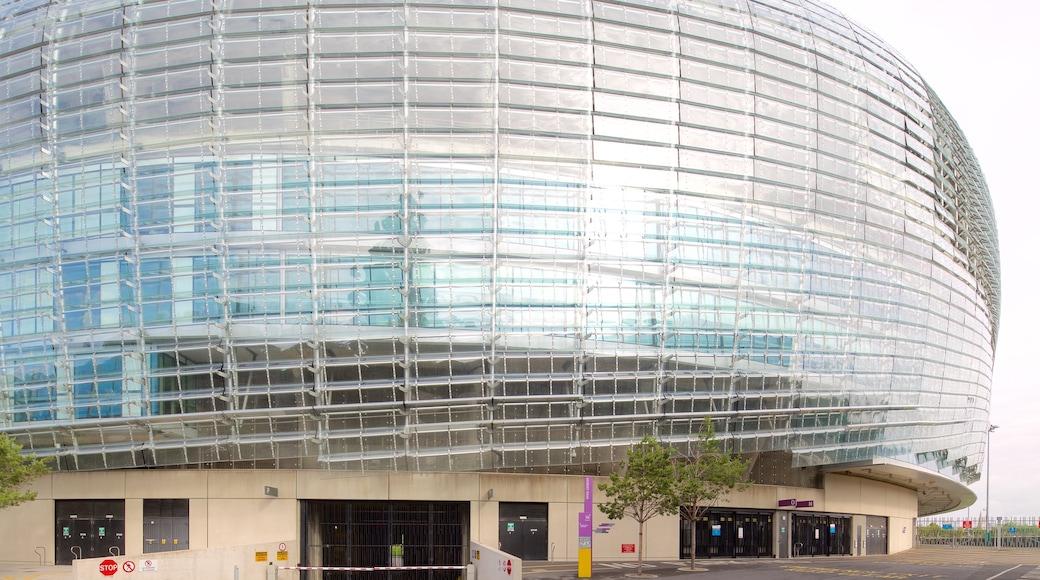 Aviva Stadium featuring modern architecture