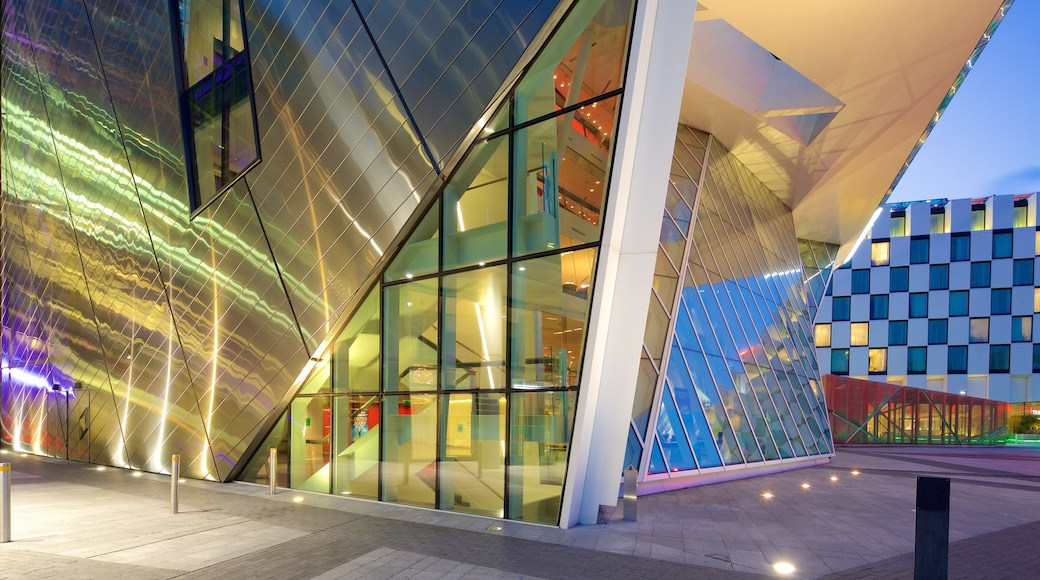 Bord Gais Energy Theatre showing theatre scenes and modern architecture