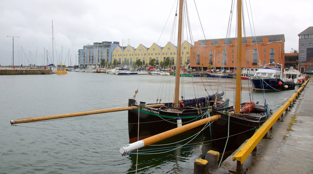 Galway Harbour which includes a bay or harbour, boating and sailing