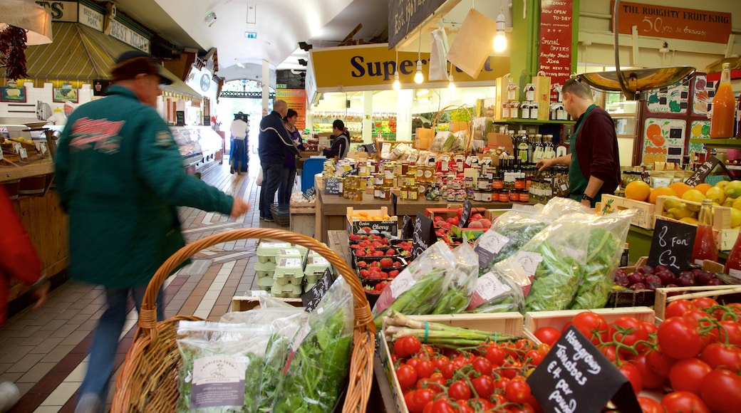 English Market which includes interior views, food and markets