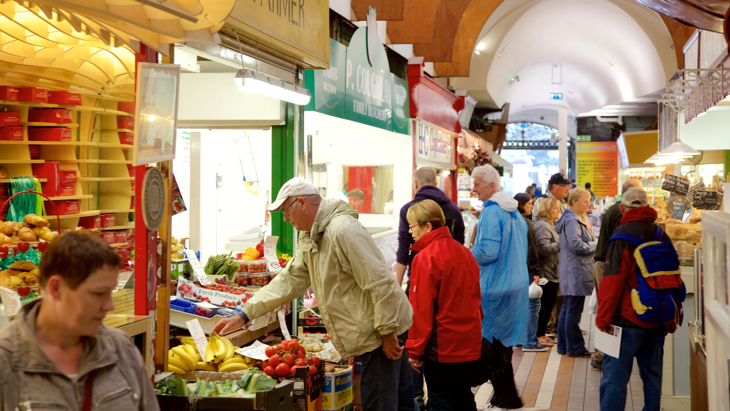 Shop for fresh produce from around the world and sample traditional Cork dishes at this historic food market inside a grand Victorian building.