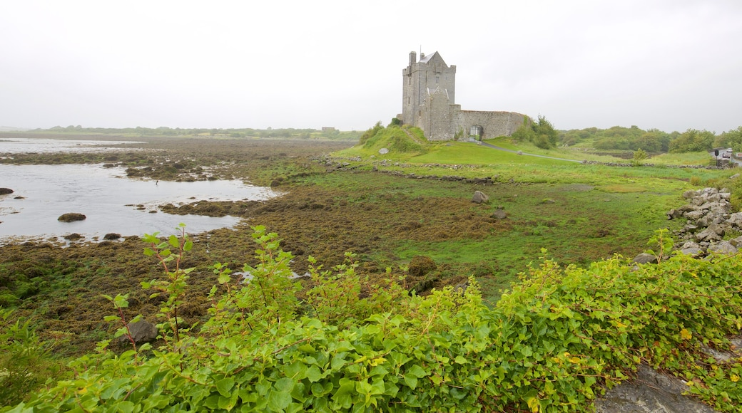 Dunguaire Castle showing heritage architecture, a river or creek and château or palace