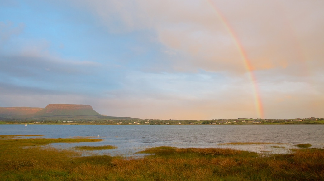 Ben Bulben which includes mountains, tranquil scenes and a river or creek