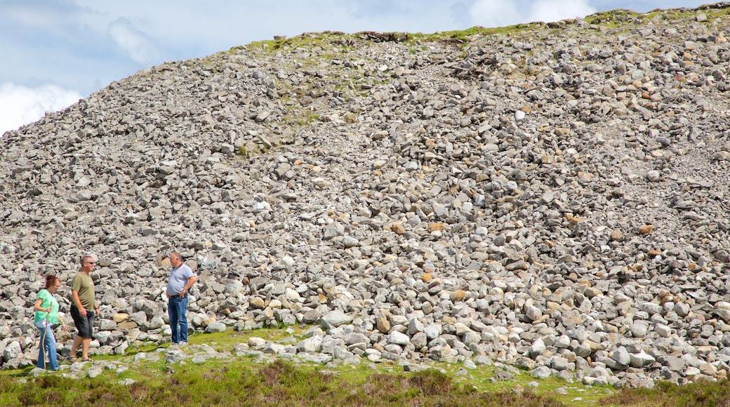 Knocknarea which includes mountains and tranquil scenes as well as a small group of people