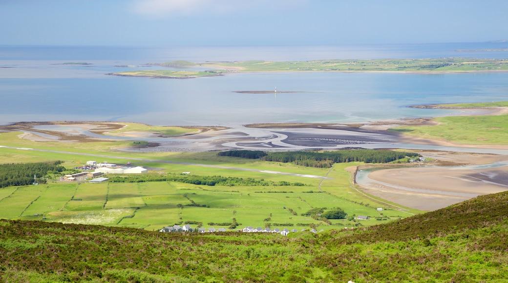 Knocknarea featuring tranquil scenes, general coastal views and landscape views