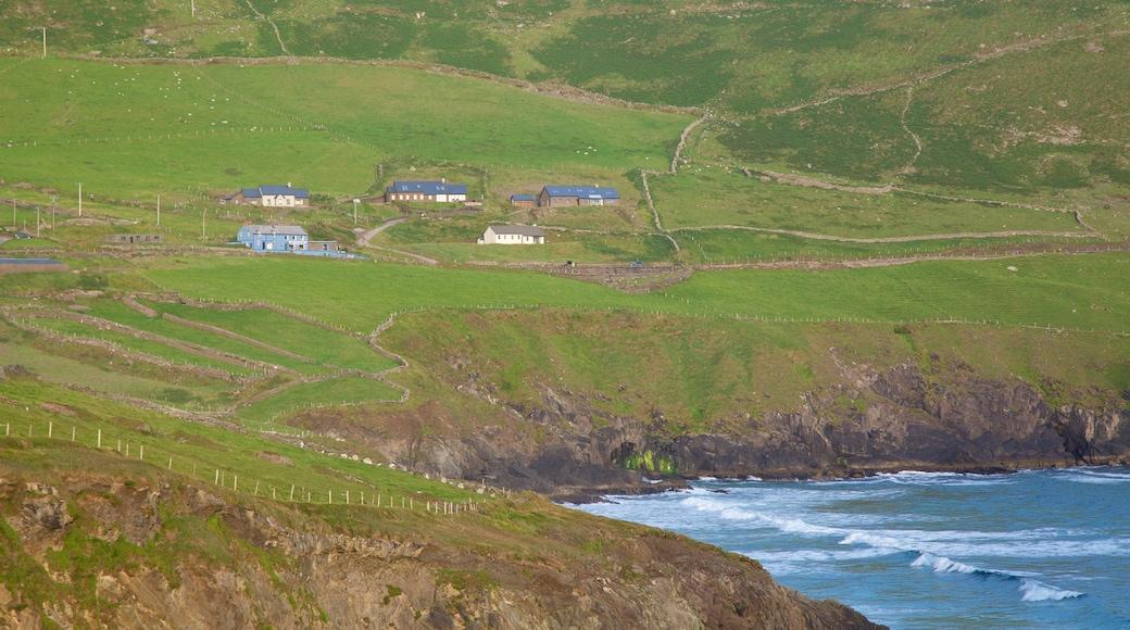 Dunmore Head featuring general coastal views, tranquil scenes and rocky coastline