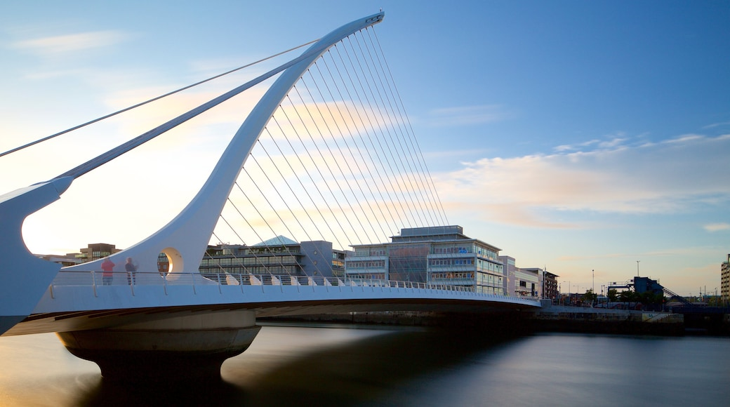 Dublin featuring a bridge, a river or creek and night scenes