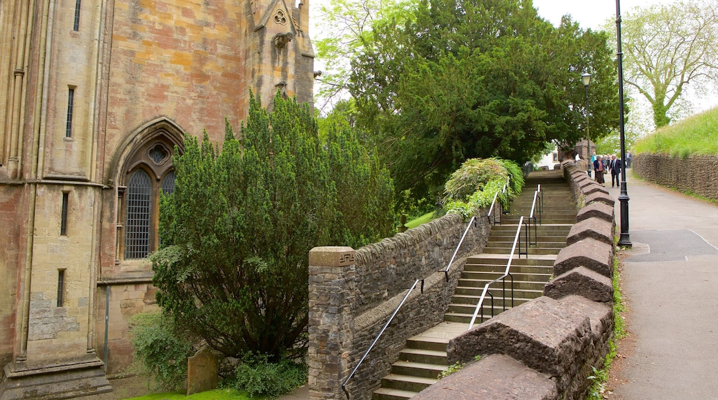 Llandaff Cathedral featuring religious aspects, heritage architecture and heritage elements