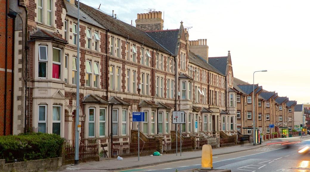 Cardiff mostrando cenas de rua e uma cidade