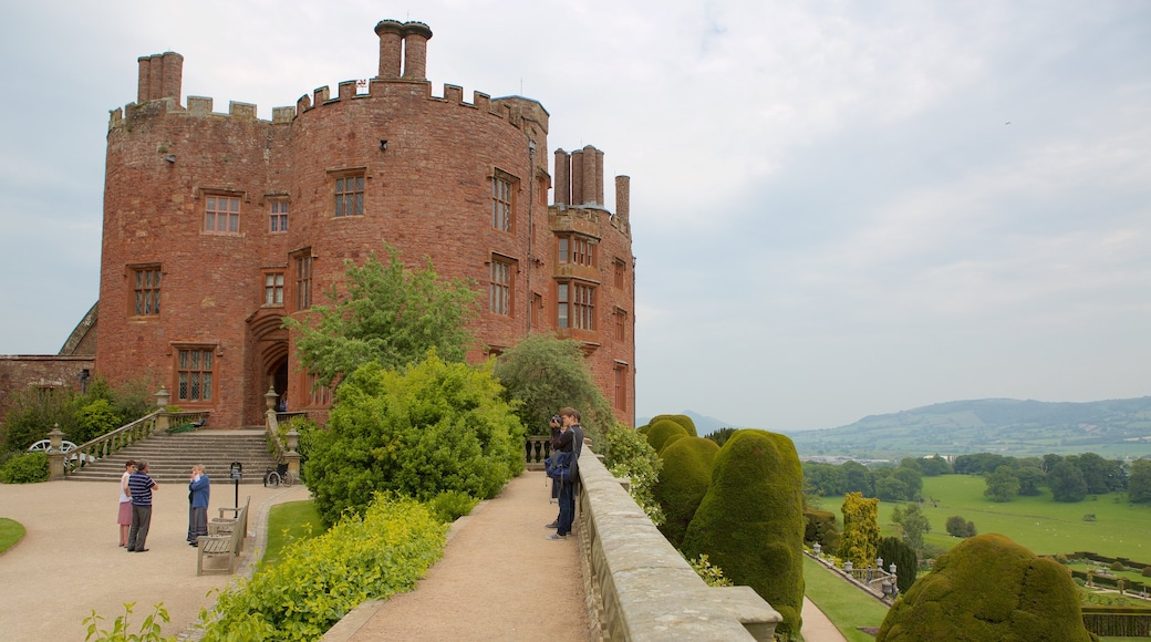 Powis Castle which includes heritage elements, heritage architecture and château or palace