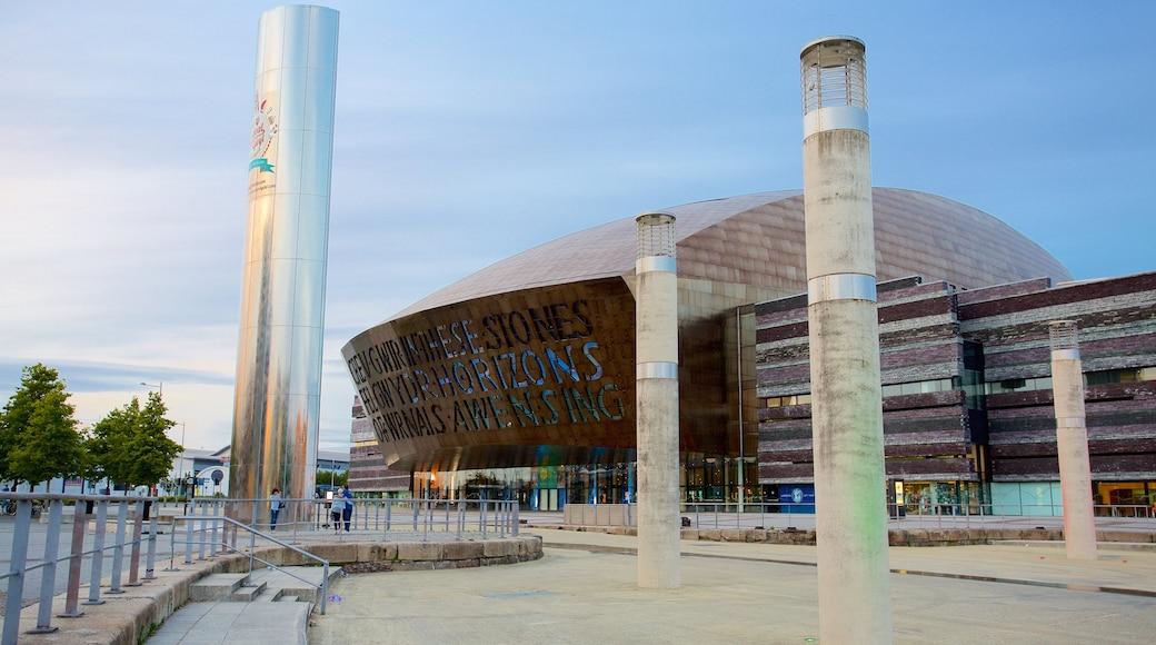 Wales Millennium Centre featuring modern architecture