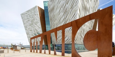 Titanic Belfast showing modern architecture and signage