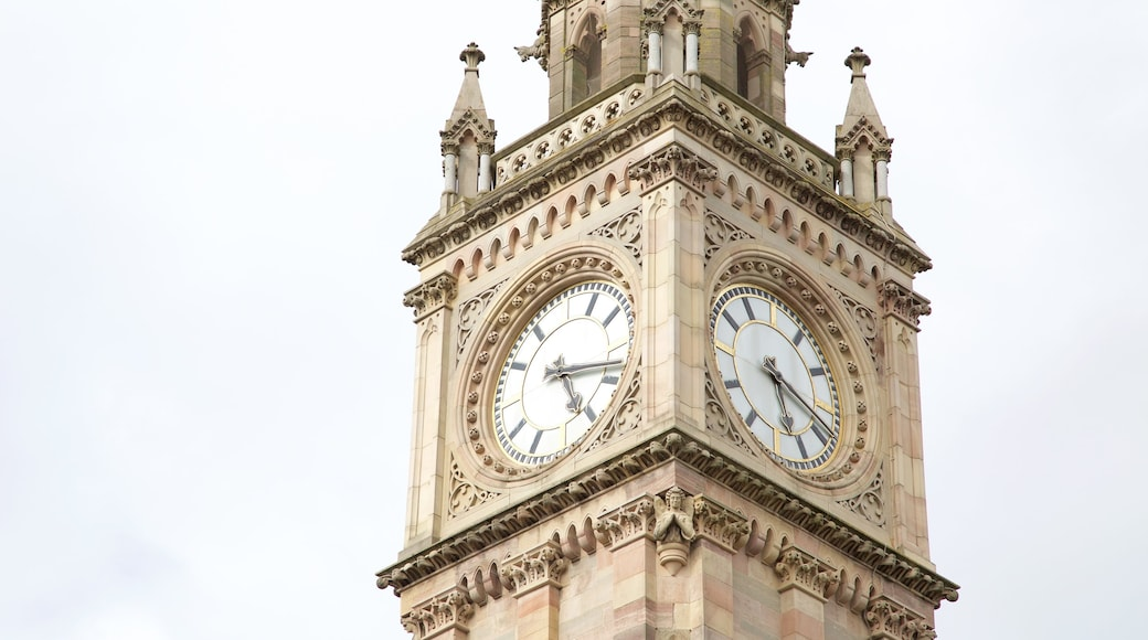 Albert Memorial Clock Tower showing heritage elements and heritage architecture