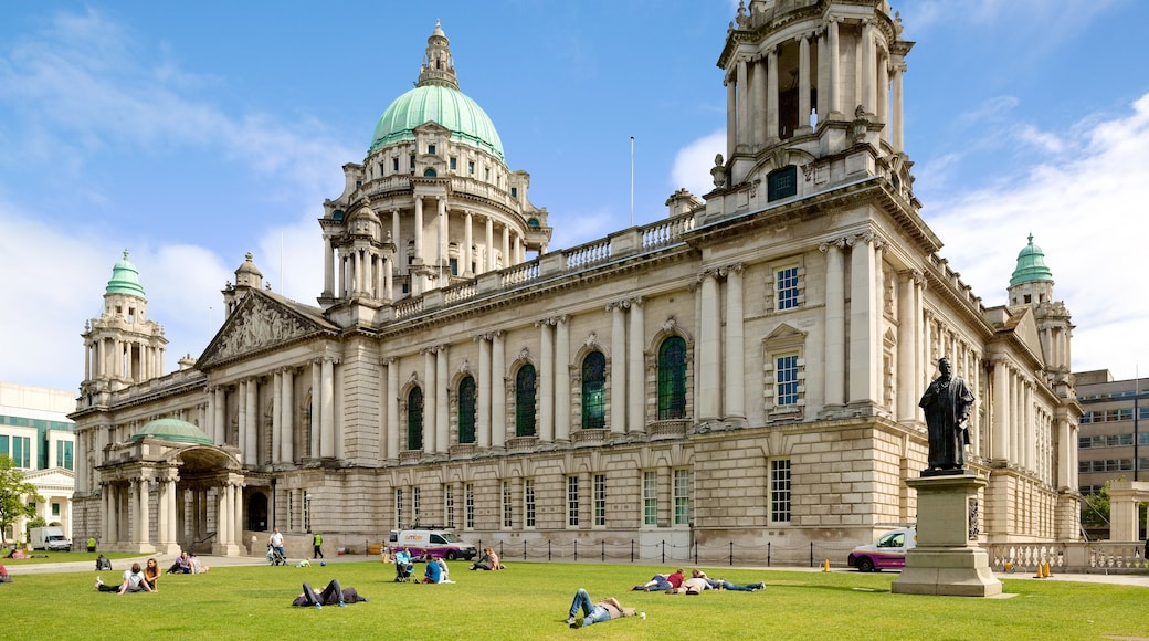 Belfast City Hall which includes heritage architecture, heritage elements and a garden