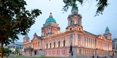 Belfast City Hall showing heritage elements, heritage architecture and a castle