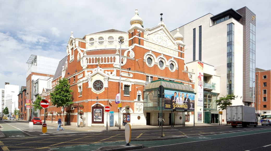 Grand Opera House showing heritage elements, heritage architecture and a city