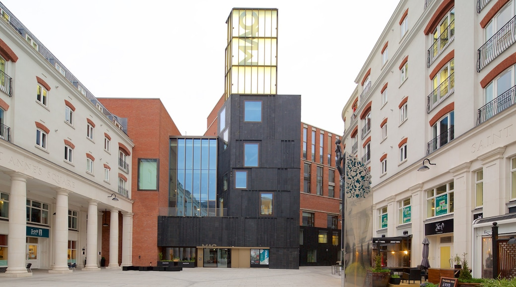 Metropolitan Arts Centre which includes a city and modern architecture