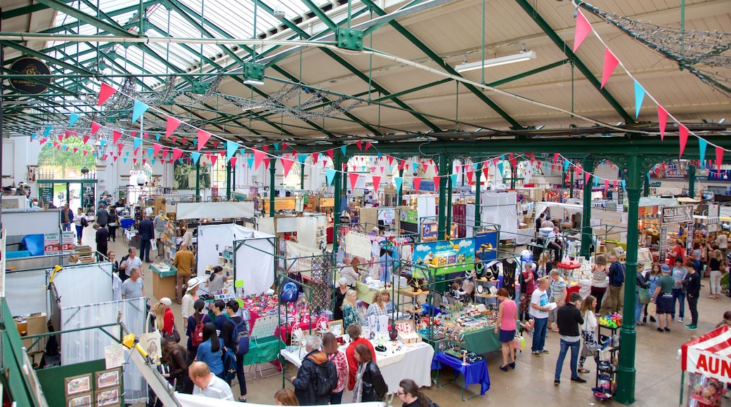 St. George\'s Market featuring interior views, a square or plaza and markets