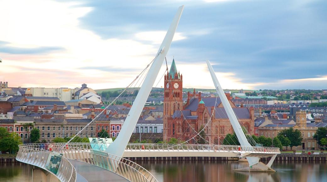 Peace Bridge which includes a city, modern architecture and a bridge