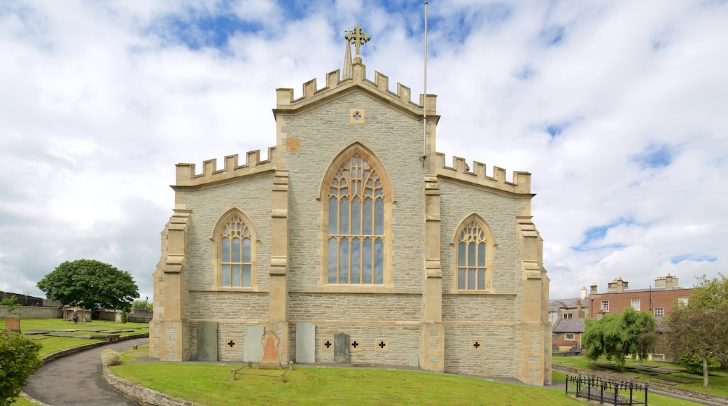 St. Columb\'s Cathedral featuring religious elements, heritage elements and heritage architecture