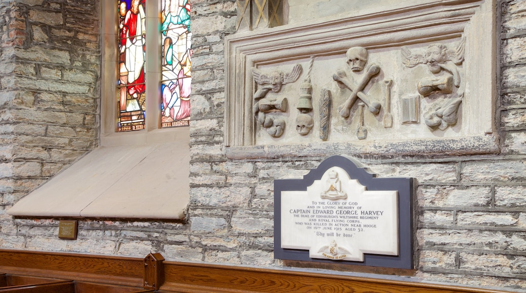 St. Columb\'s Cathedral featuring heritage elements, interior views and signage