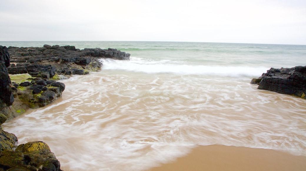 Castlerock Beach which includes a beach, general coastal views and rugged coastline