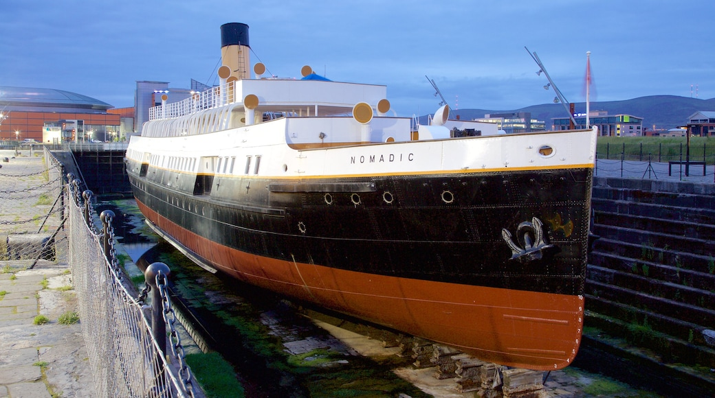 Belfast which includes boating and heritage elements