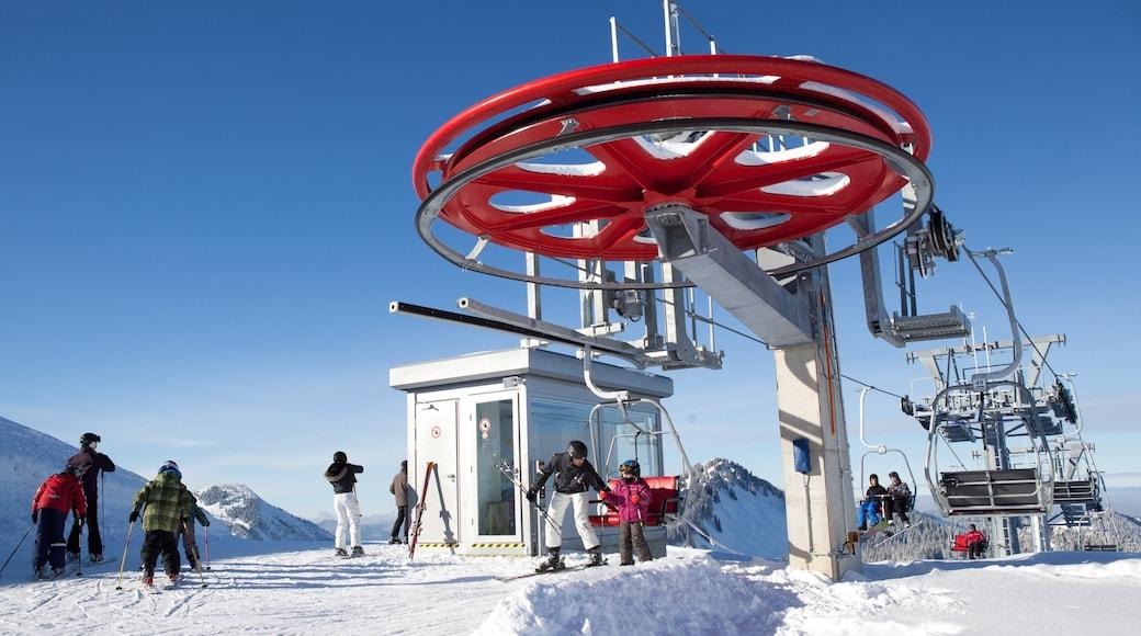Spitzingsee welches beinhaltet Skifahren, Gondel und Schnee