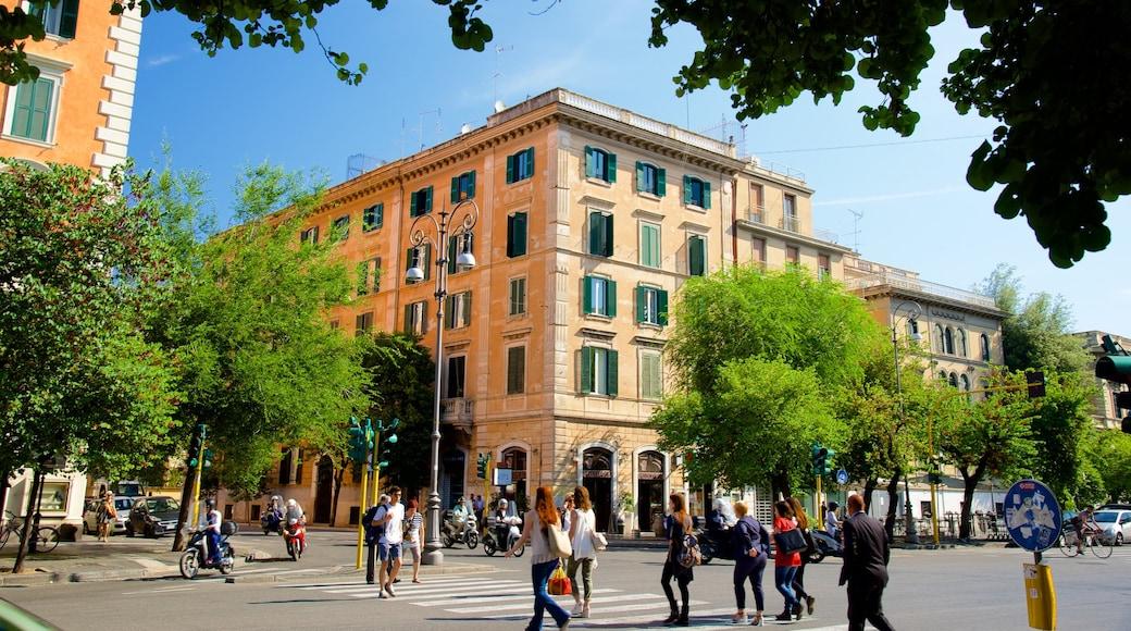 Prati inclusief een stad, een plein en straten