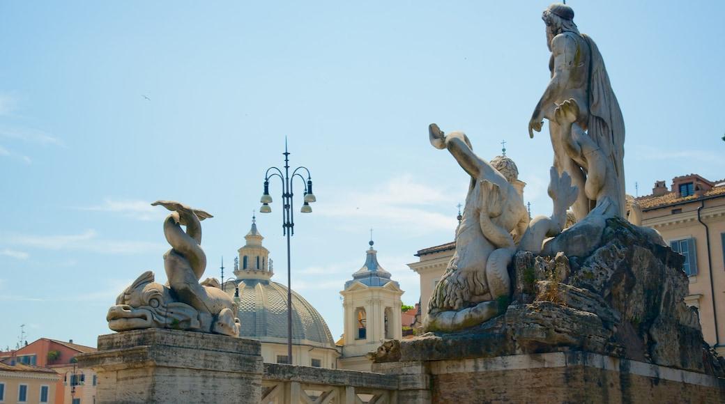 Via del Corso which includes a statue or sculpture