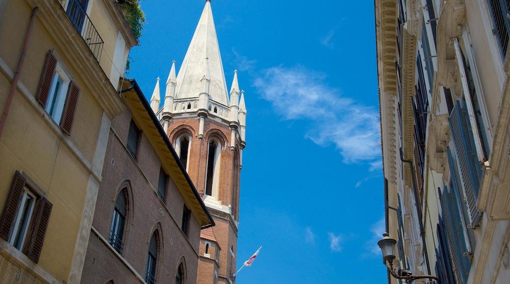 Via del Babuino qui includes patrimoine architectural