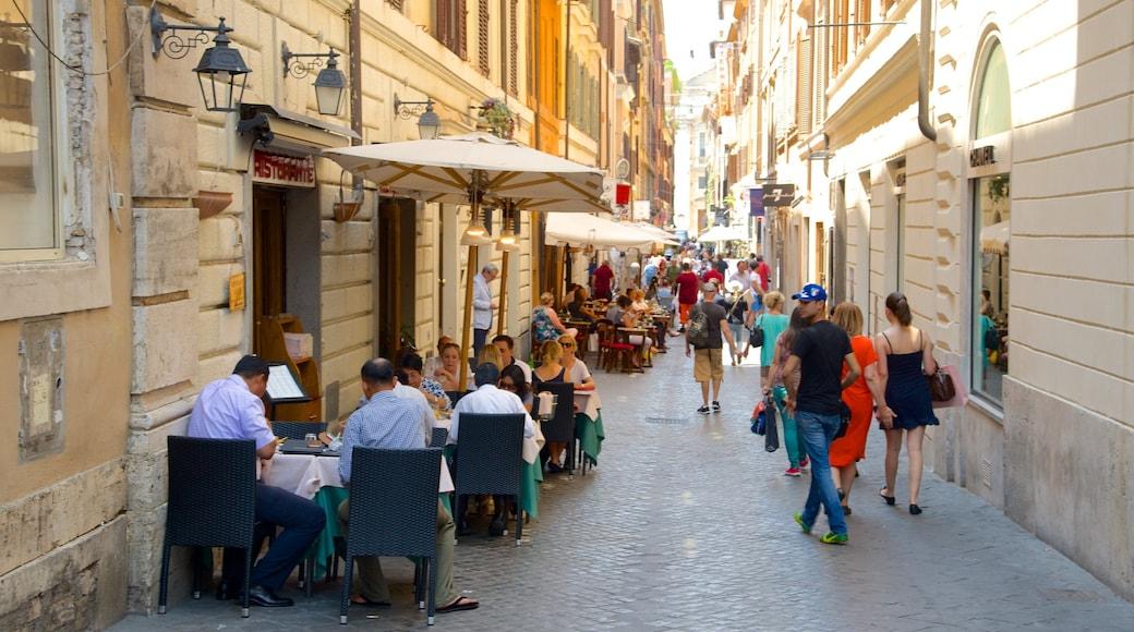 Via del Babuino qui includes pause café, sortie au restaurant et scènes de rue