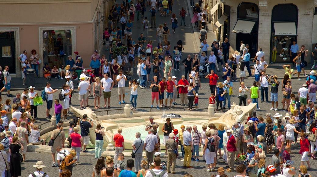 Via del Babuino mettant en vedette square ou place, ville et scènes de rue