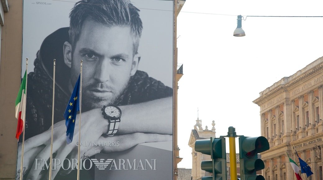 Via XX Settembre featuring signage, shopping and a city