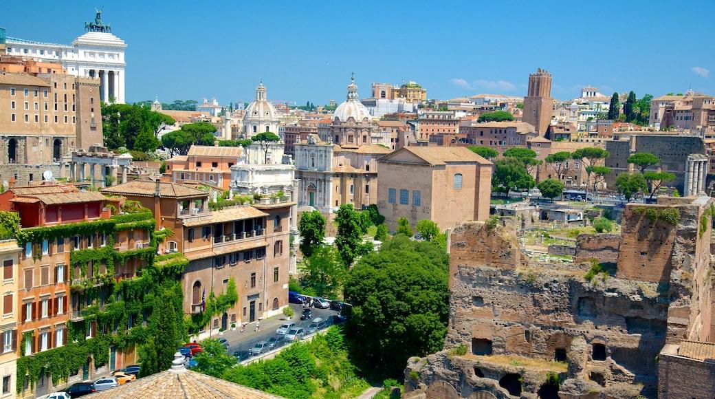 Monti fasiliteter samt historisk arkitektur, by og ruiner