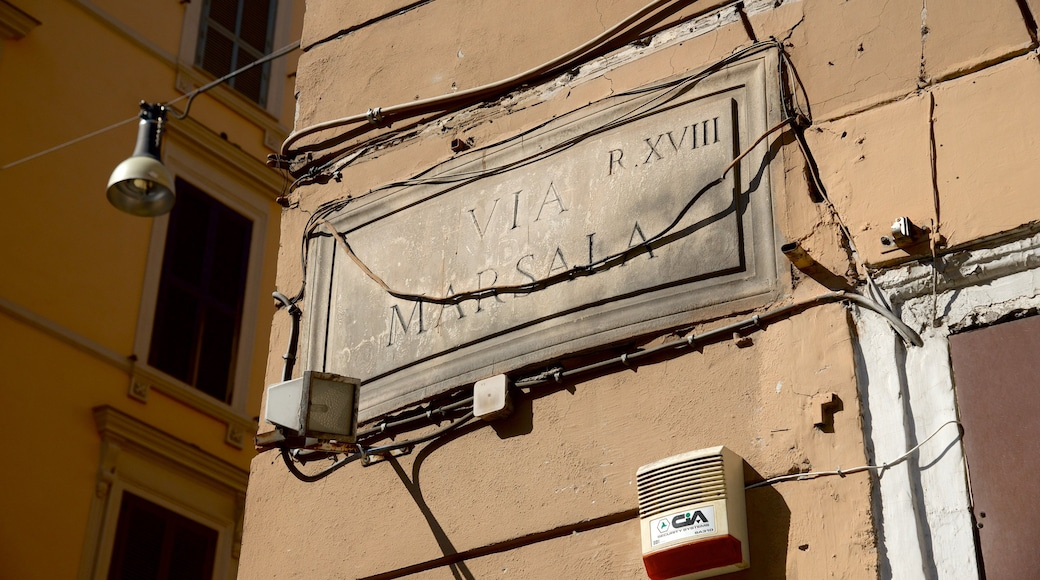 Via Marsala which includes signage