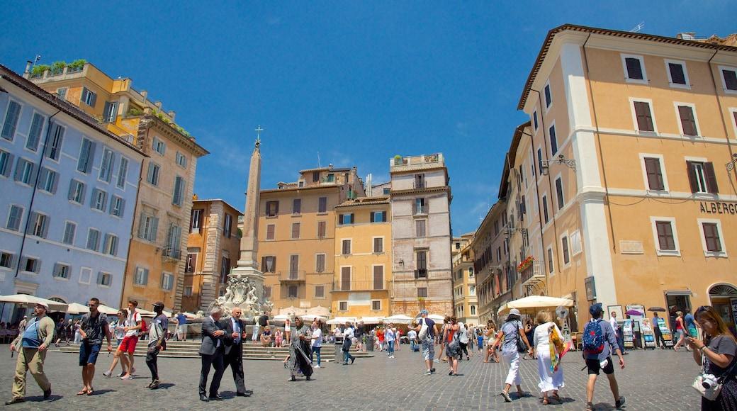 Roms historiska stadskärna presenterar en stad, gatuliv och ett torg