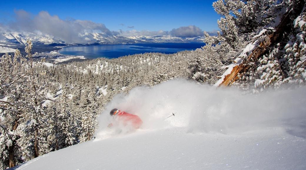 Heavenly Ski Resort mettant en vedette ski, neige et lac ou étang