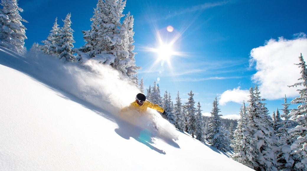 Vail Ski Resort que incluye nieve y ski en la nieve y también un hombre