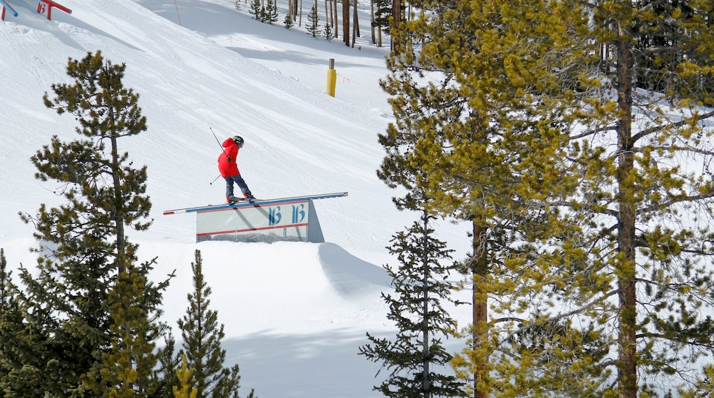 Breckenridge Ski Resort featuring snow skiing and snow as well as an individual male