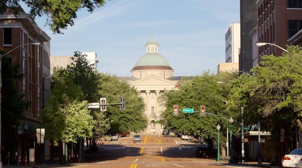 Jackson joka esittää katunäkymät, kaupunki ja hallintorakennus