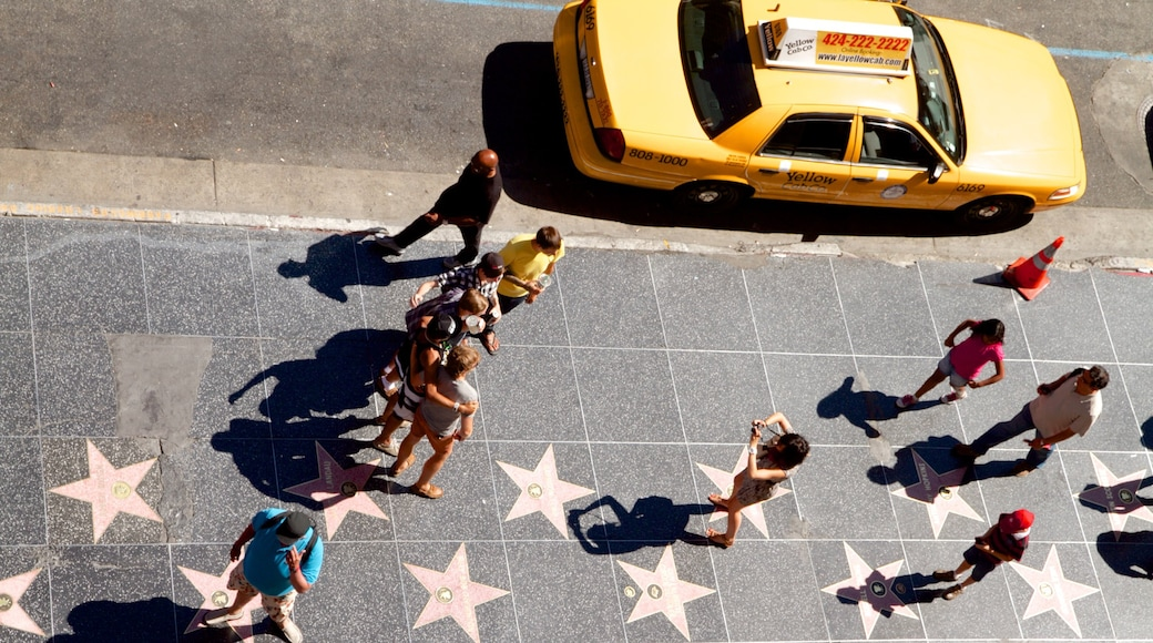 Hollywood Boulevard as well as a small group of people