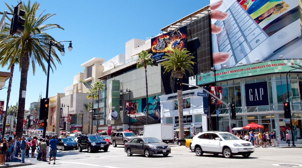 Hollywood Boulevard featuring street scenes, a city and a square or plaza