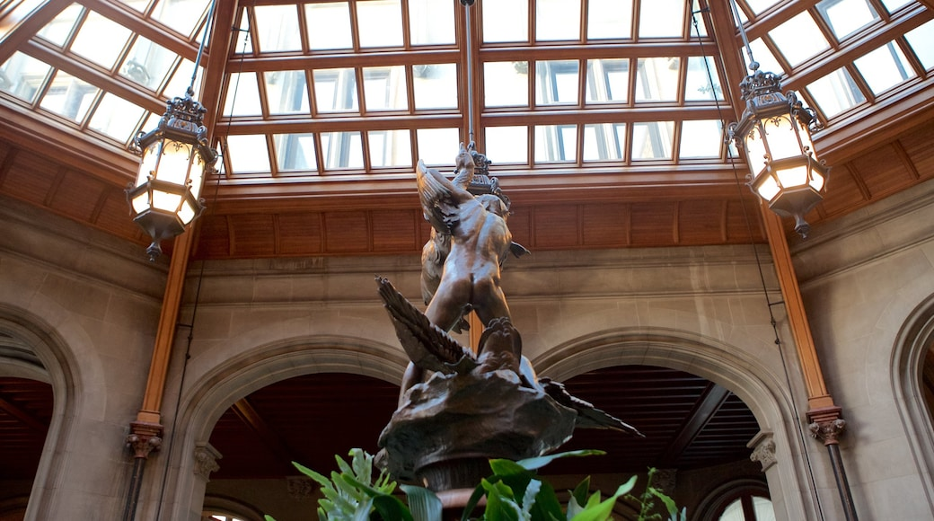 Biltmore Estate featuring a park, a statue or sculpture and interior views
