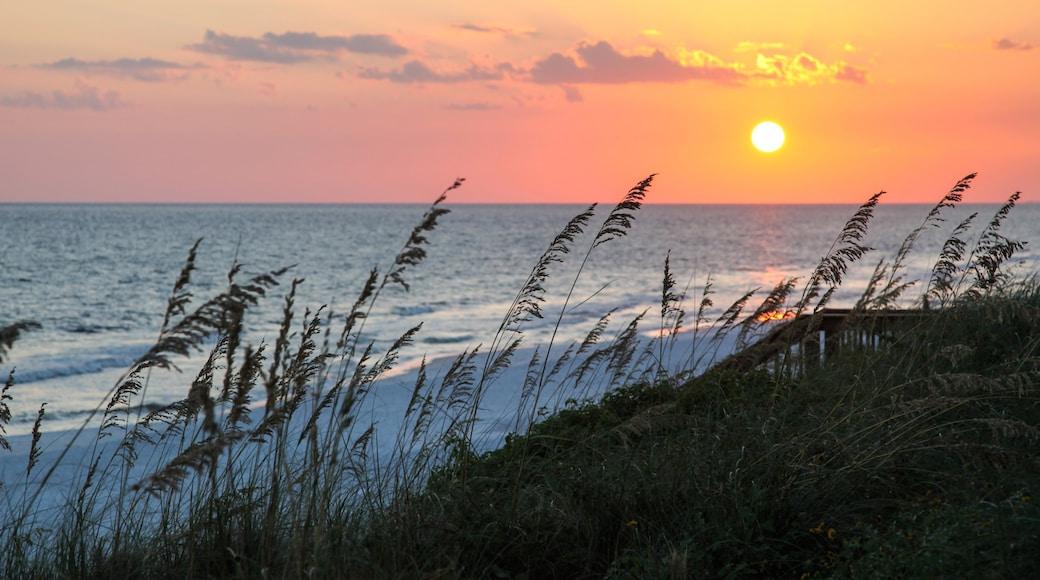 Santa Rosa Beach which includes a sunset, general coastal views and a sandy beach