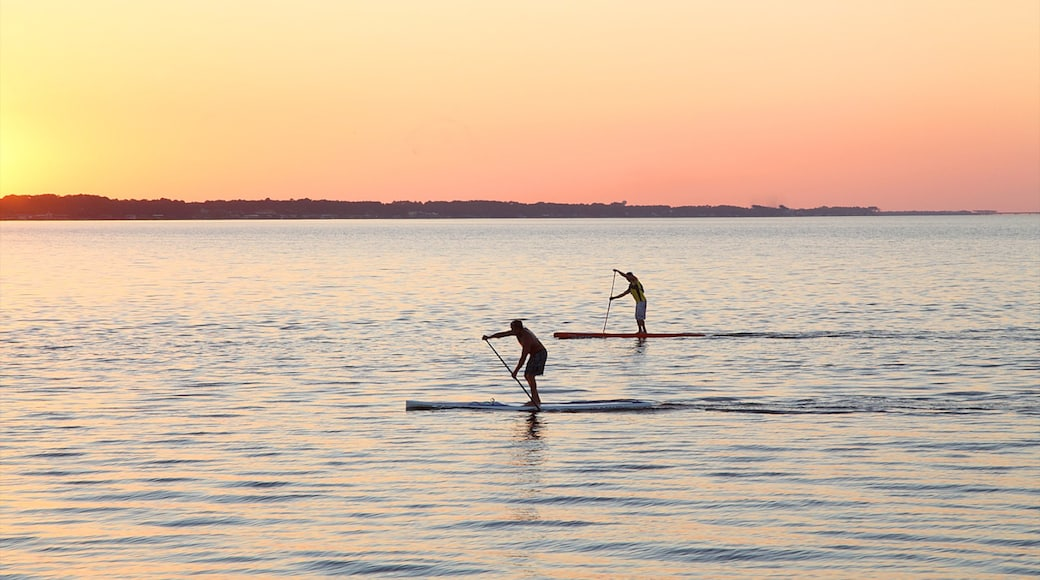 Sandestin which includes water sports, a sunset and general coastal views