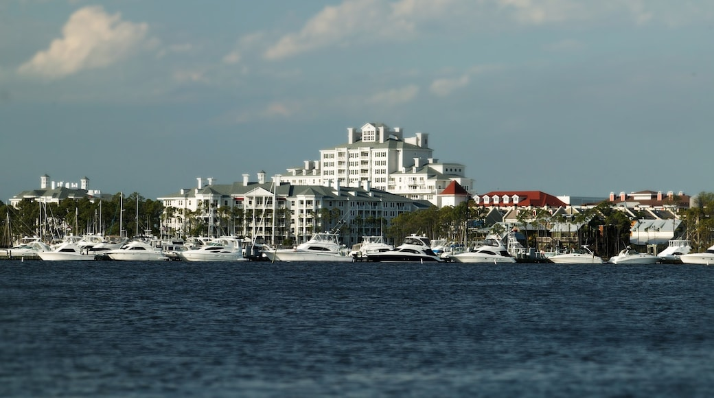 Sandestin showing a luxury hotel or resort, general coastal views and boating